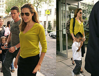 Angelina Wears Color - World Goes Crazy