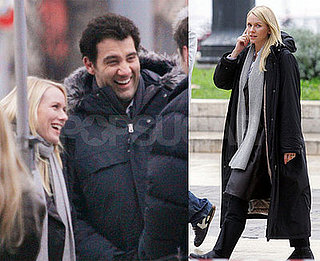 Clive Owen and Naomi Watts on the set of The International in Milan
