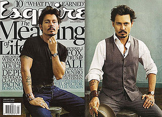 Johnny Depp and Tim Burton in Esquire, January 2008