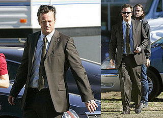 Matthew Perry Gets in Character