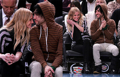 Ashlee and Pete Take Their Love Courtside