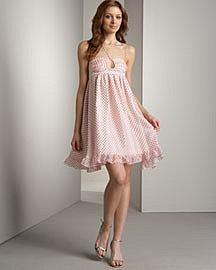 Betsey Johnson Burnout Halter Dress Neiman Marcus