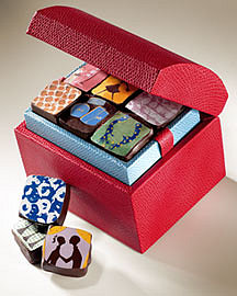 MarieBelle Leather Box with Chocolates?-? Sweets?-? Neiman Marcus