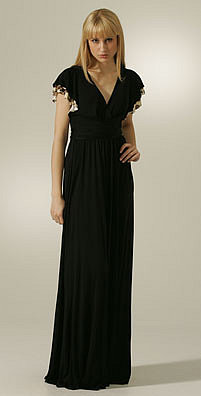 L.A.M.B Flutter Sleeve Gown - shopbop.com