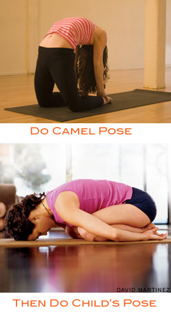 Strike a Yoga Pose: Camel to Child's Pose