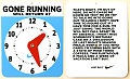 Get Your Own 'Gone Running' Clock