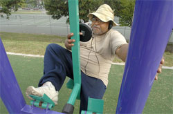 Outdoor Workout Equipment Appears in Baltimore