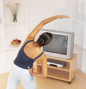 Fit Tip:  Work Out While Watching TV