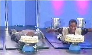 Funny Video of Three Guys Doing Cobra Pose on a Game Show