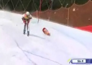 "This Skier's ""Boys"" Take A Beating On The Slopes"