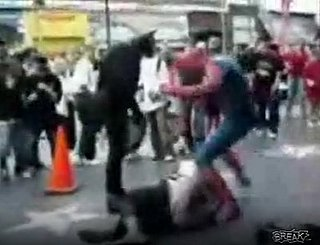 Superheroes Fighting