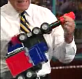 Letterman &quot;Plays&quot; With A Transformer