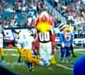 Mean-Spirited Mascot Goes On Manhunt