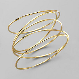 Nicole - Ippolita - 18K Shiny Gold Bangle - Saks.com