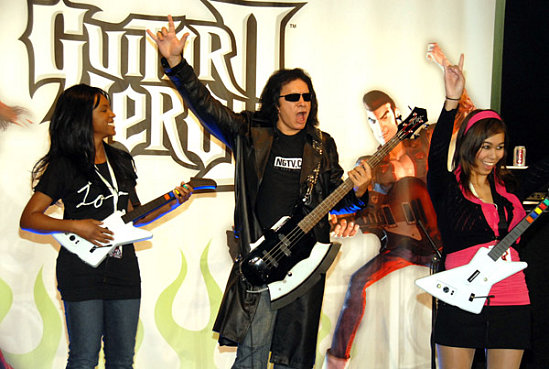 Gene Simmons Promotes Guitar Hero II for Xbox 360