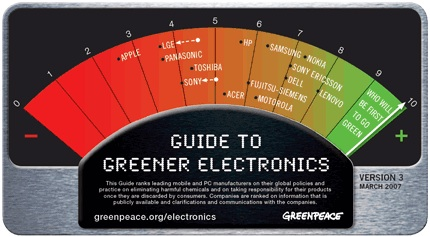 Greenpeace Releases Electronics Guide