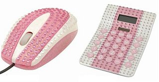 Love It or Leave It? Rhinestone Studded Mouse and Calculator