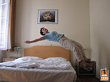 hotel bed jumping 4