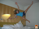hotel bed jumping 9