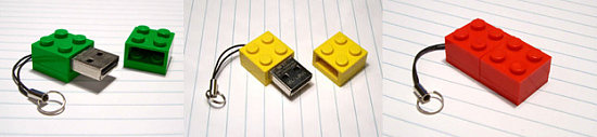 Zip Zip LEGO USB Drives