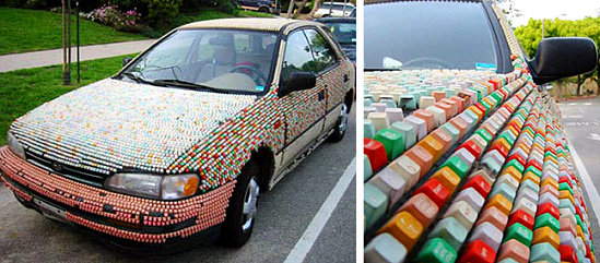 Totally Geeky or Geek Chic? Key Covered Car