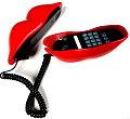 Totally Geeky or Geek Chic? Red Lips Telephone