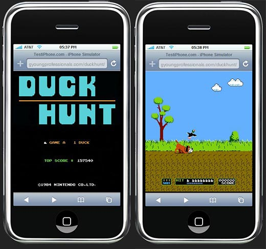 iPhone Games: The Original Duck Hunt