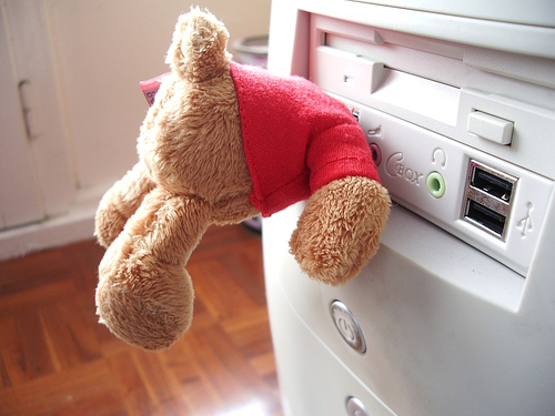 The Fuzzy Wuzzy Teddy Bear USB Drive