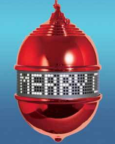 Scrolling LED Christmas Tree Ornament: Geek or Chic?