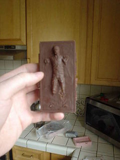 "Yummy Link: Chocolate ""Carbonite"" Han Solo"