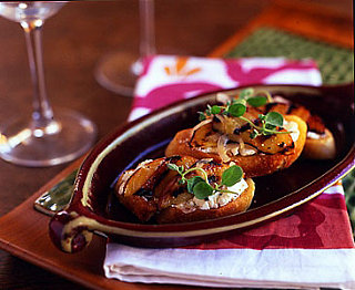 Sunday BBQ: Grilled Peaches and Goat Cheese Crostinis