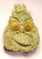 Yummy Link: Guacamole Grinch Sandwiches