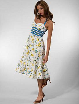 BETSEY JOHNSON Fruity Ruffle Dress
