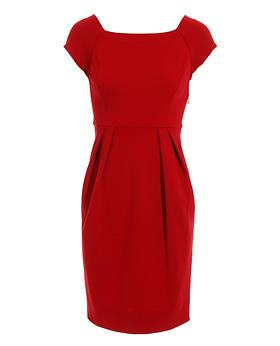 Diane Von Furstenberg Square neck cap sleeved Anka dress