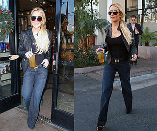 Lindsay in Jeans and Recording Studio