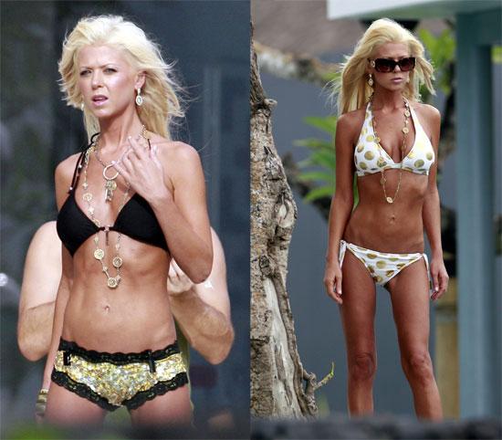 Tara Reid Collapses Bali Thinspo bikini / underwear