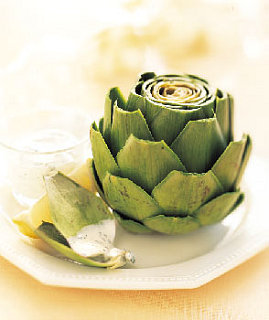 Single Serving Side: Artichokes With Basil Mayonnaise