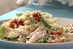 Today's Special: Smoked Turkey and Couscous Salad with Lemon-Chive Vinaigrette