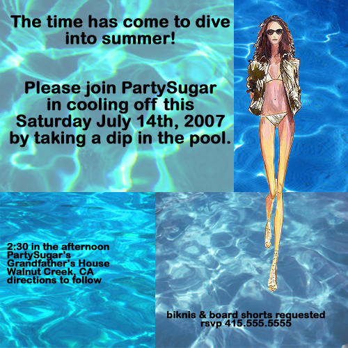 Come Party With Me: Pool Party - Invites