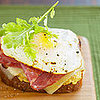 Fast & Easy Dinner: Greens, Eggs, & Ham Sandwich
