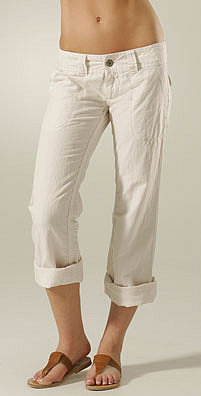 On Sale: James Perse Linen Roll Up Pant