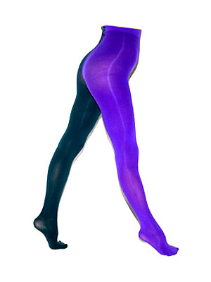 Would You Wear These Two-Tone Tights?