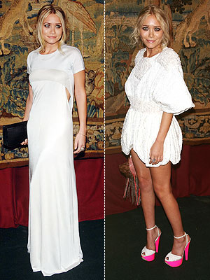 WHICH OLSEN WEARS HER WHITE DRESS BETTER?