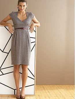 BananaRepublic.com: Houndstooth knit jersey dress