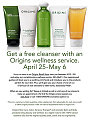 Bella Bargain: Origins Offer Through May 6