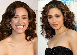 Which Pink Lipstick Looks Better on Emmy Rossum?