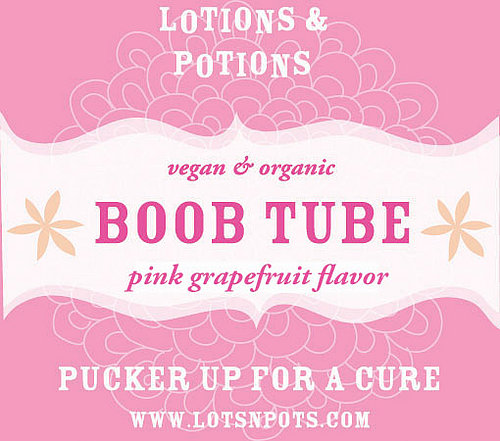 Think Pink: Lotions & Potions Boob Tube Lip Balm