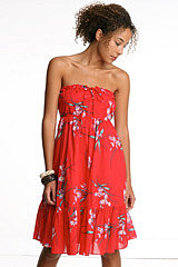 TROPICAL PRINT: Lux Tropical Ruffle Tube Dress - UrbanOutfitters.com