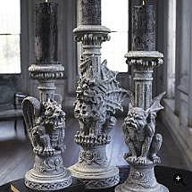 Gargoyle Halloween Candle Holders - Frontgate