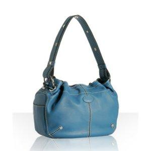 Tod&#039;s blue calfskin &#039;Miky Easy&#039; medium shoulder 